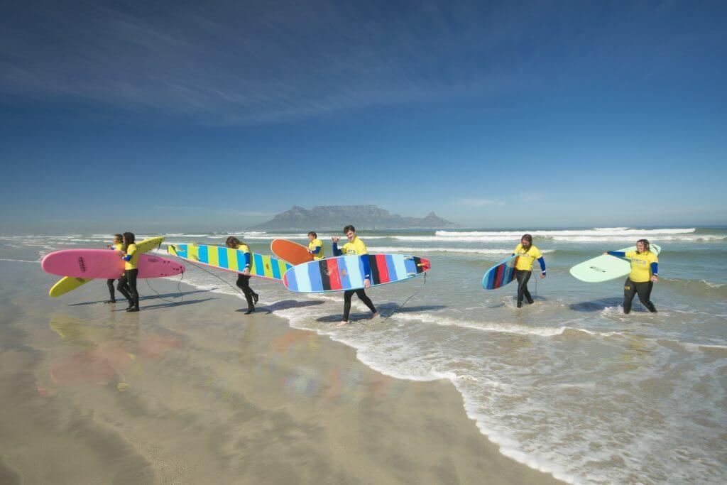 surf lessons blouberg